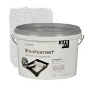 KARWEI muur- en plafond structuurverf mat wit 2,5 l