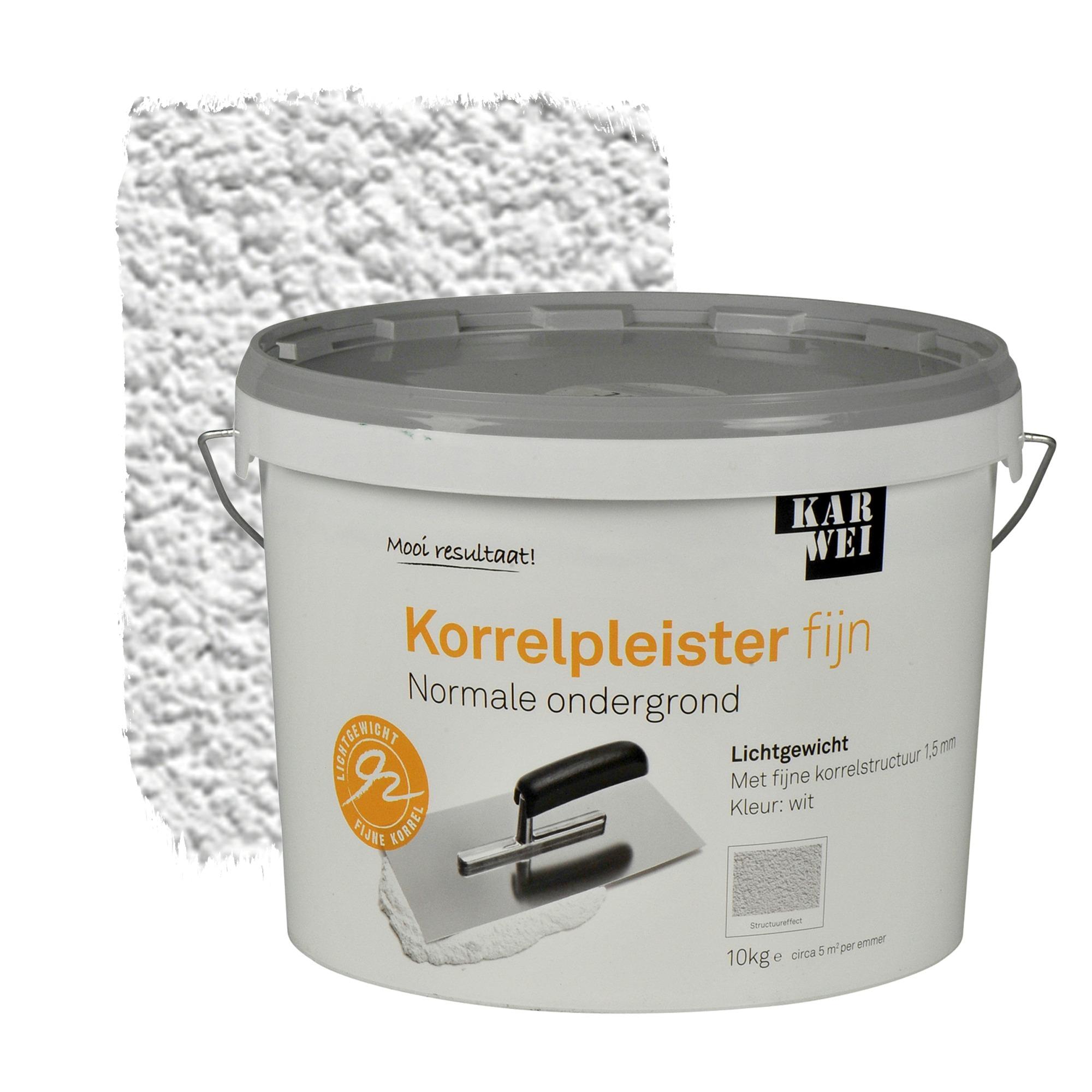 KARWEI korrelpleister fijn wit 10 kg