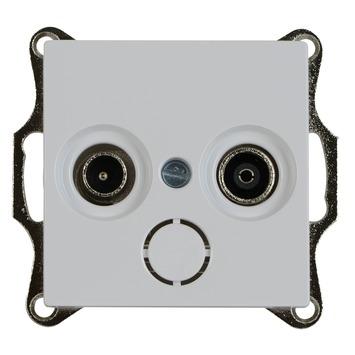 Merten System-M Pure Stopcontact coax actief Wit
