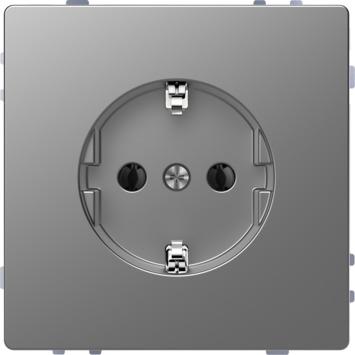 Merten D-Life Inbouw Stopcontact Enkel RA RVS