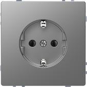 Merten D-Life inbouw enkel geaard stopcontact edelstaal