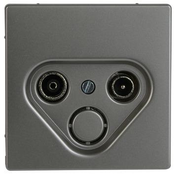 Merten D-Life stopcontact coax edelstaal