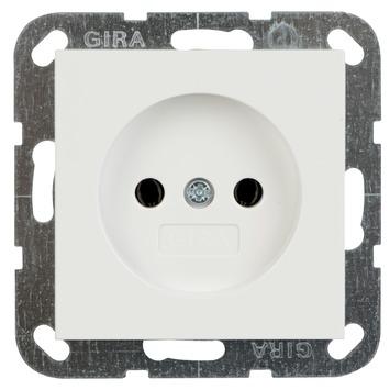 Gira ST55 inbouw enkel stopcontact wit