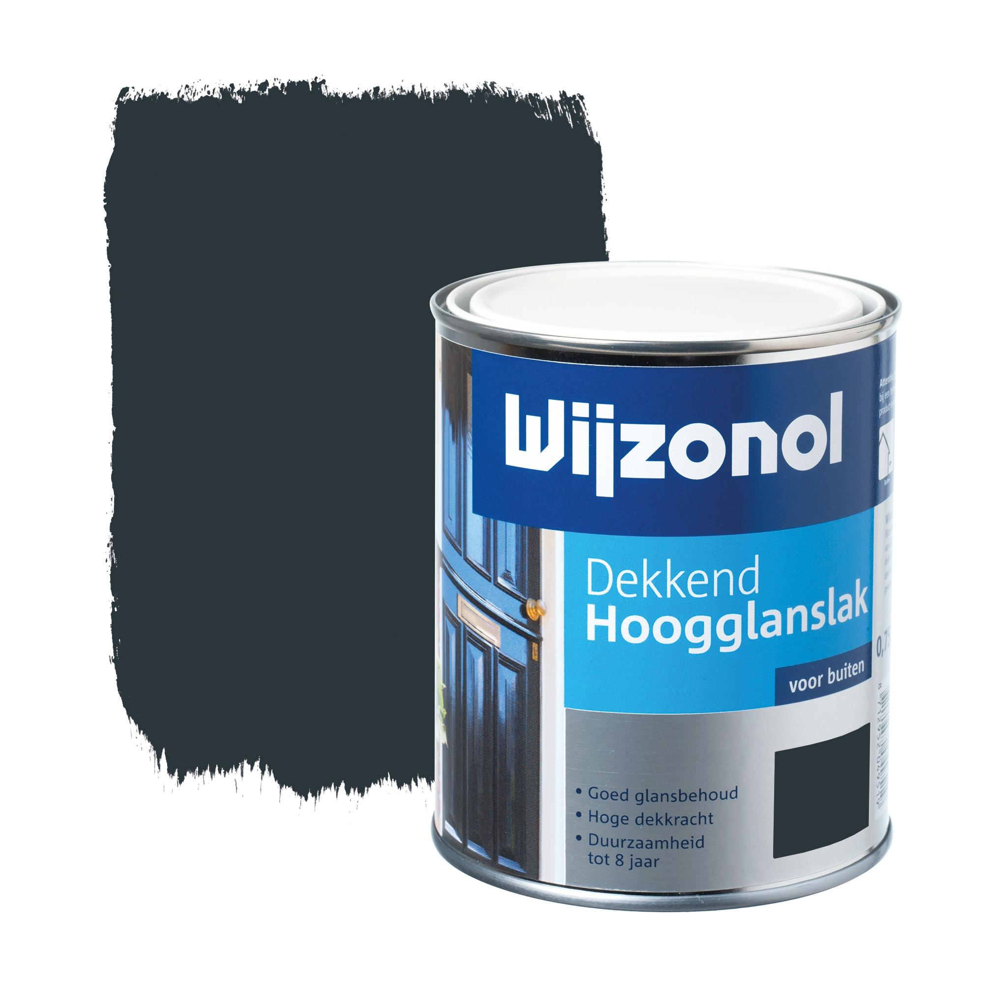 Wijzonol rm buitenverf hoogglanslak dekkend alkyd koningsblauw 750 ml