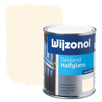 Wijzonol lak halfglans crèmewit (RAL 9001) dekkend 750 ml