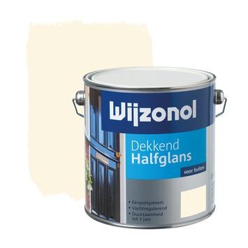 Wijzonol lak halfglans crèmewit (RAL 9001) dekkend 2,5 l