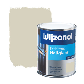 Wijzonol lak halfglans beige dekkend 750 ml