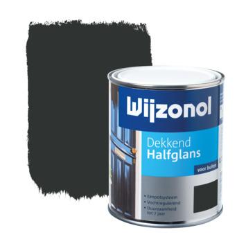 Wijzonol lak halfglans zwart dekkend 750 ml