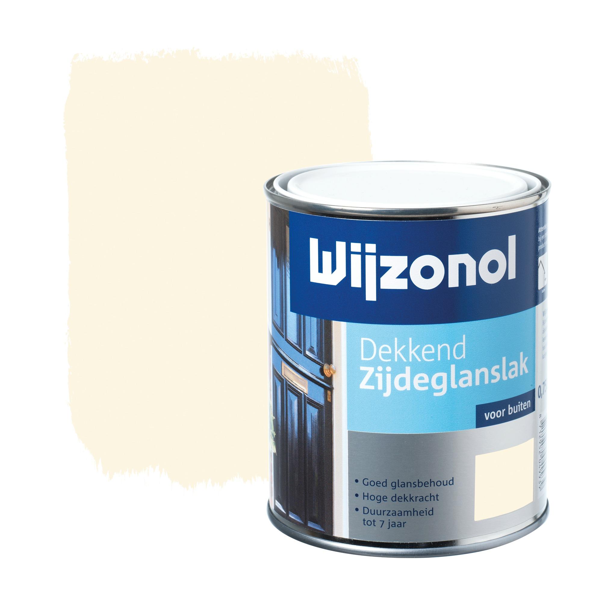 Wijzonol rm buitenverf zijdeglans dekkend alkyd crème wit ral 9001 750 ml