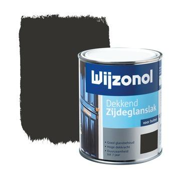Wijzonol lak zijdeglans klassiekbruin dekkend 750 ml