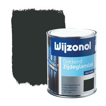 Wijzonol lak zijdeglans zwart dekkend 750 ml