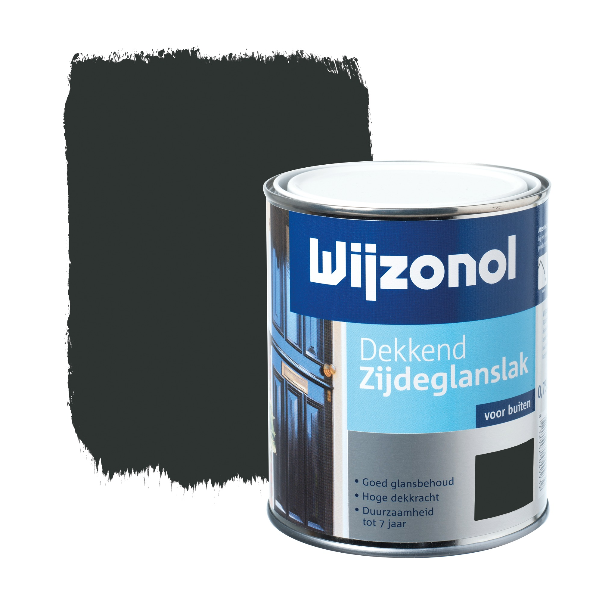 Wijzonol rm buitenverf zijdeglans dekkend alkyd zwart 9450 750 ml