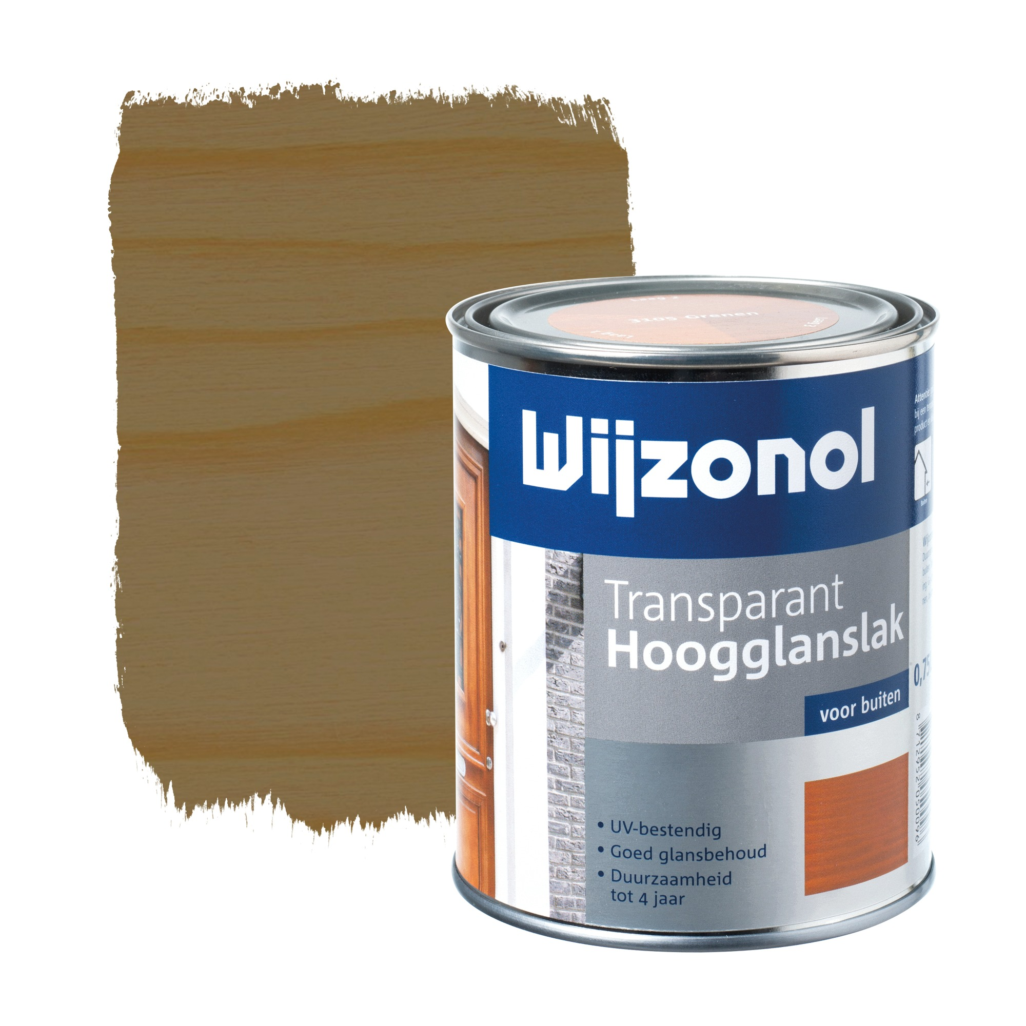 Wijzonol rm buitenverf hoogglans transparant alkyd noten 3125 750 ml