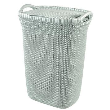 Curver Knit Wasbox misty blue 57l