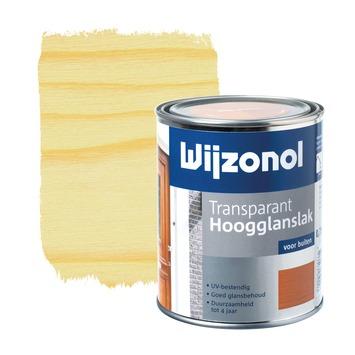 Wijzonol lak hoogglans white wash transparant 750 ml