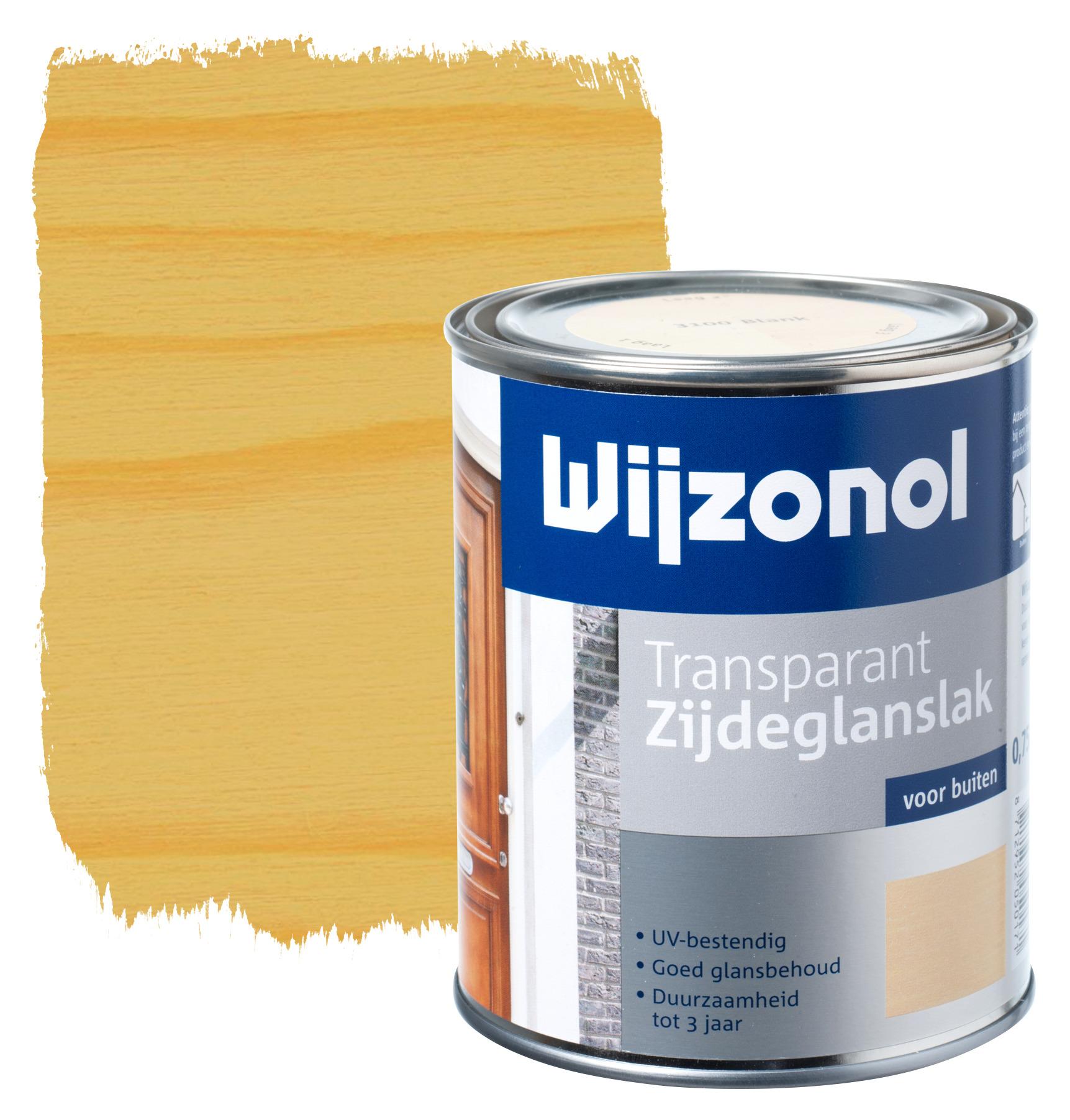 Wijzonol rm buitenverf zijdeglans transparant alkyd blank 3100 750 ml