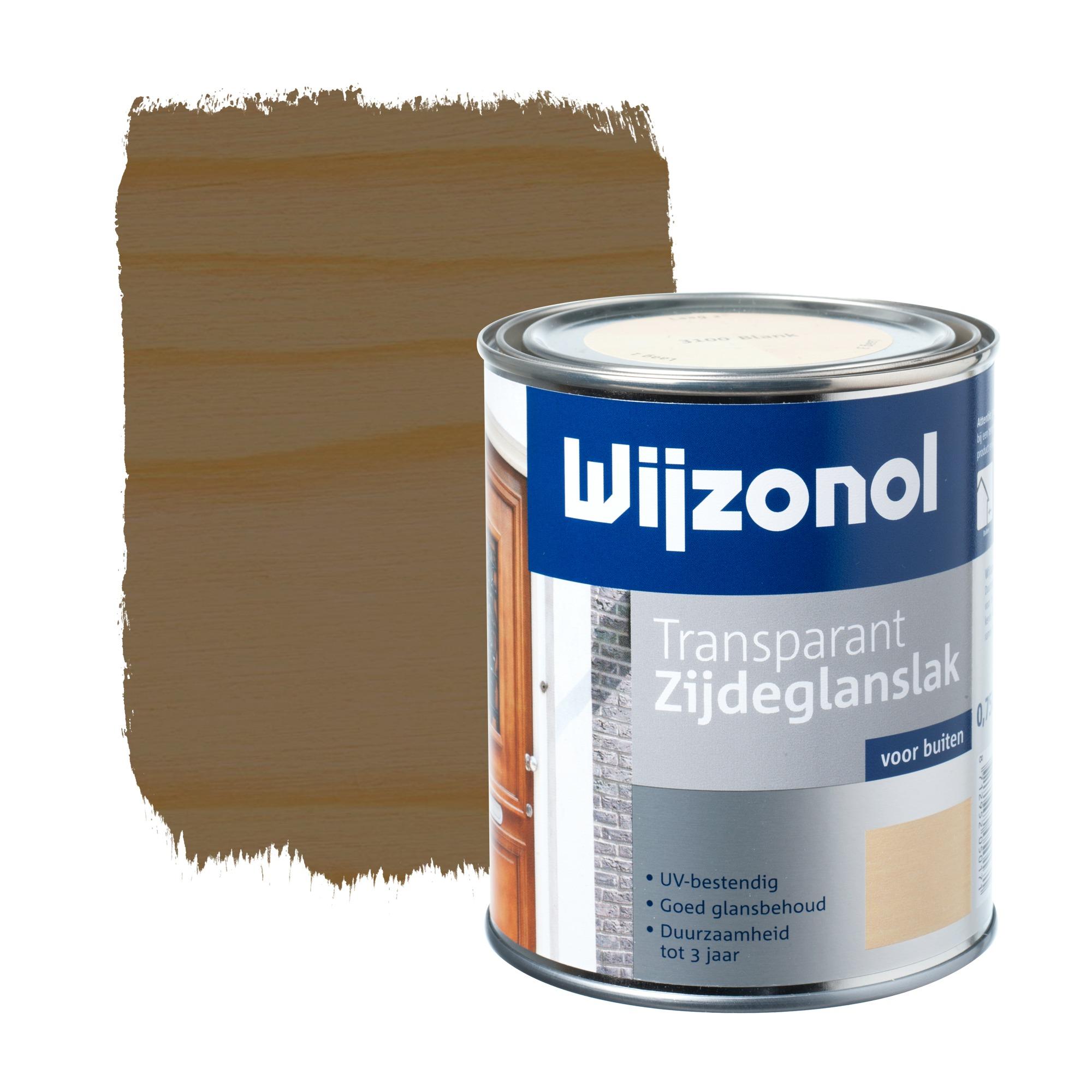 Wijzonol rm buitenverf zijdeglans transparant alkyd teak 3120 750 ml