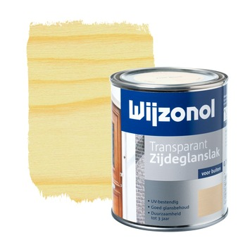 Wijzonol lak zijdeglans white wash transparant 750 ml