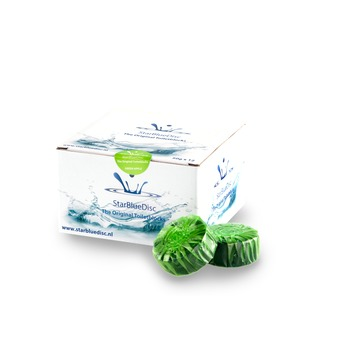 StarBlueDisc Halfjaar verpakking Groen voor PureBasic toiletblokhouder