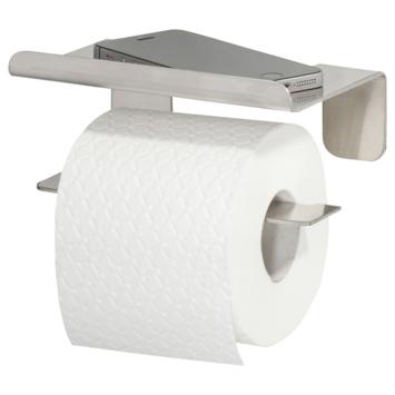 Tiger Colar toiletrolhouder met plateau RVS