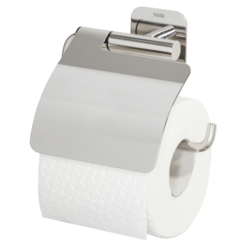 Tiger Colar toiletrolhouder met klep chroom