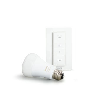Philips Hue White Ambiance draadloze dimmer met LED-lamp E27 9,5W
