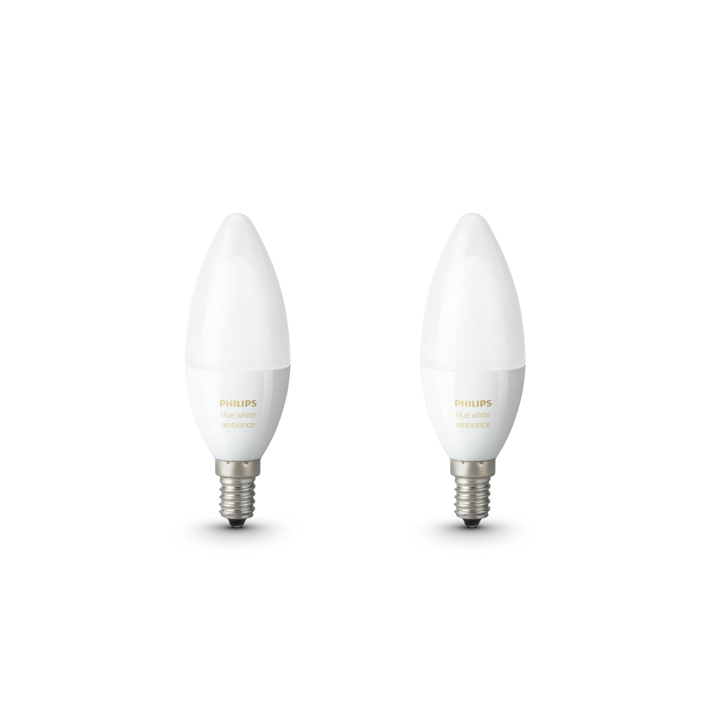 Philips Hue 2-Pack Bulb E14 White Ambience