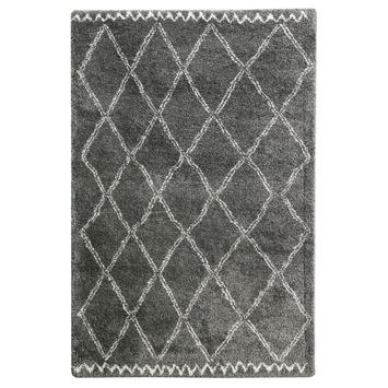 Varamin Vloerkleed Donker Grijs/Wit 35 mm 160x230 cm