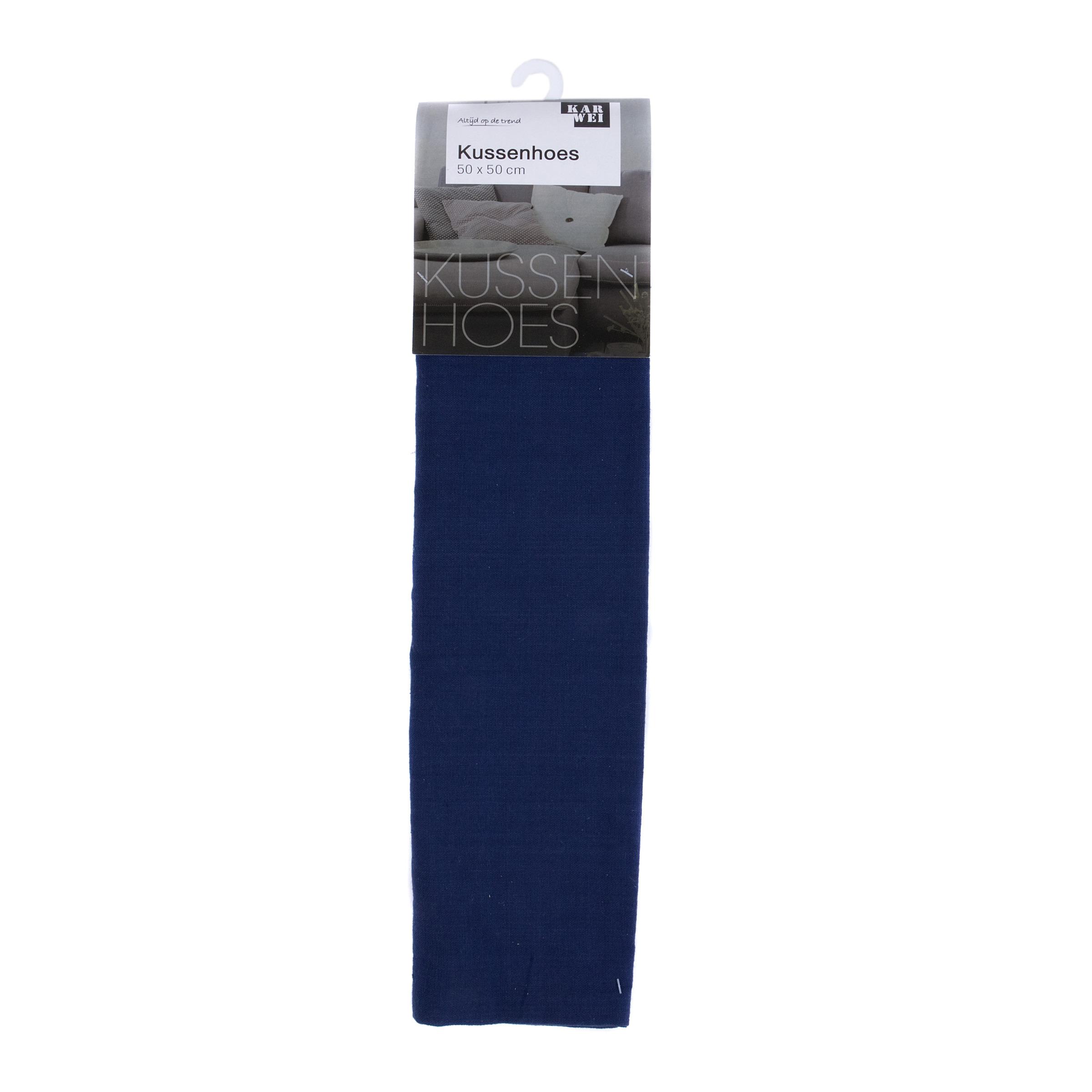 Hoes Uni 50x50 Donkerblauw