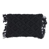 Kussen Macrame 30x50 Zwart