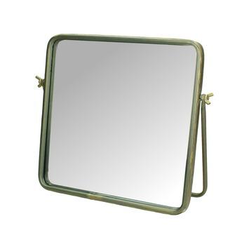 Metalen spiegel goud 28,5x2x25 cm