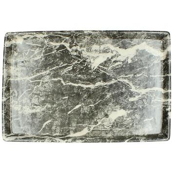Bord keramiek zwart 26,2x17x2,7 cm