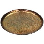 Tray alumium brons 18x18x2 cm