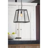 Hanglamp Saunte zwart + glas
