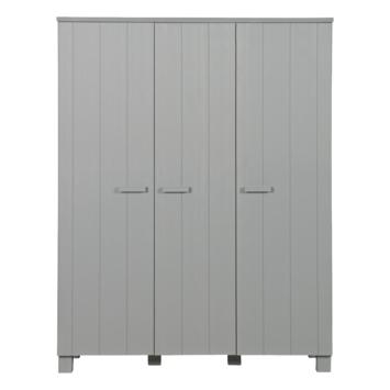 WOOOD hang/legkast Dennis 3-deurs 202x158x55 cm, beton grijs