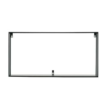 WOOOD wandplank Meert XL zwart gelakt 35x70x20 cm