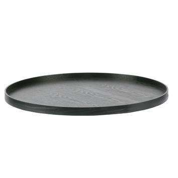 WOOOD houten dienblad Mesa rond zwart gelakt 60 cm