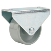 Bokwiel grijs 25 mm met plaat (max. 40 kg)