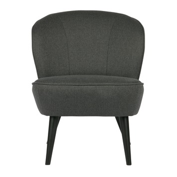 WOOOD fauteuil Sara donker grijs