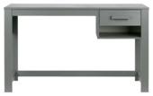 WOOOD bureau Dennis 75x125x58 cm, staalgrijs