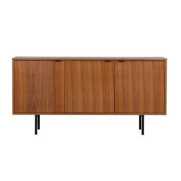 Karwei Tv Meubel.Woood Dressoir Joan 69x140x39 Cm Gelakt Amerikaans Walnoot Fineer