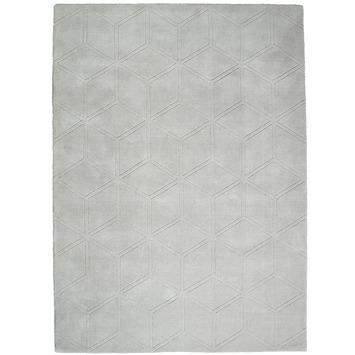 Semnan Vloerkleed Licht Grijs Hexagon Patroon 12 mm 160x230 cm