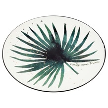Porseleinen bord met botanische print 15cm dia