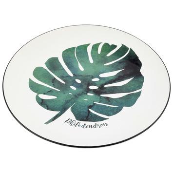 Porseleinen bord met botanische print 21cm dia