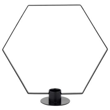 Kandelaar Hexagon zwart