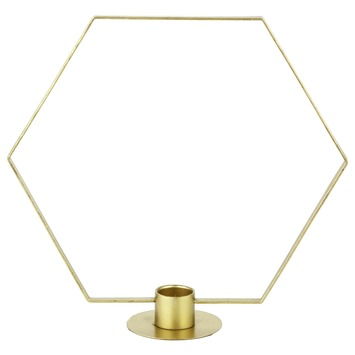 Kandelaar Hexagon goud