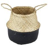 Ronde seagrass mand, Natural/ zwart, 300x300x280