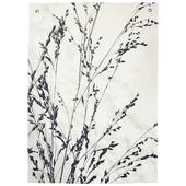 Wandkleed met print, wit/zwart, 140x100cm