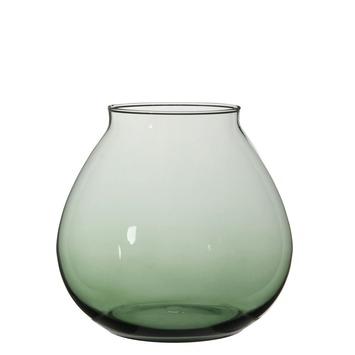 Vaas glas Thelma  groen 24x26cm
