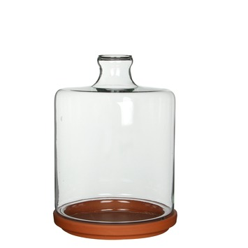Stolp Miko glas transparant 31x22cm